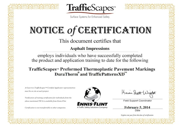 TrafficScape Certfication
