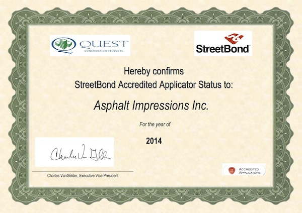StreetBond Certification